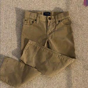 POLO Size 3 boys tan corduroys- worn once